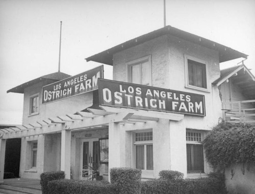 Los Angeles Ostrich Farm building, Lincoln Heights