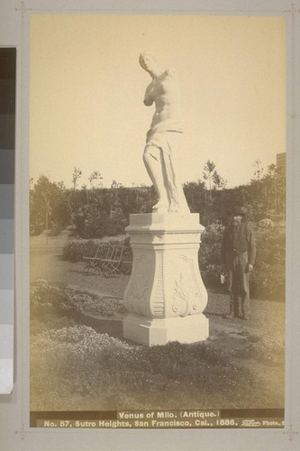 No. 57 - Venus of Milo. (Antique.) - Sutro Heights, San Francisco, Cal., 1886