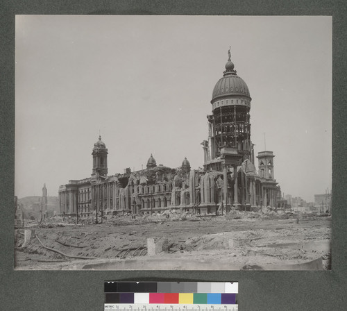 [City Hall in ruins.]