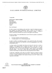 [Letter from Norman BS Jack to P Tlais regarding attachment of background paper prepared for internal considerations]