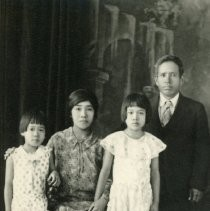 Yutaro and Naka Uyeda with daughters