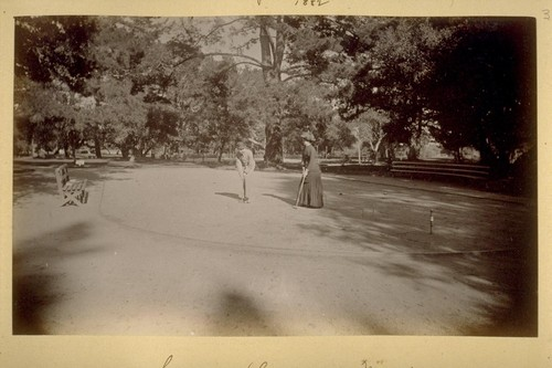 Croquet Grounds--Monterey. 1882
