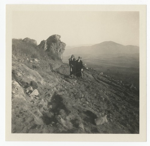 Mary and Catherine Fletcher on mountainside