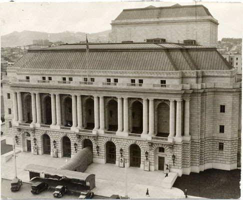 [Exterior of the War Memorial Opera House]