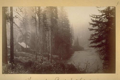 Horse shoe Bend, McCloud river. 1883