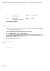 Letter from Norman BS Jack to Mike Clarke Concerning Divisional Director Trading
