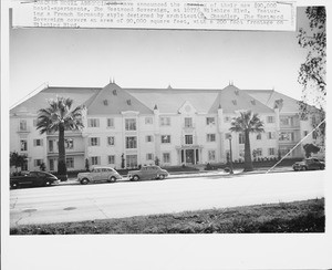 Westwood Sovereign hotel apartments, 10776 Wilshire Blvd., Los Angeles, 1951