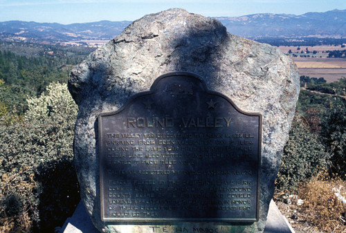 Historical marker at Round Valley
