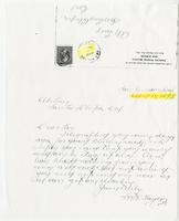 Letter from M. F. Taylor