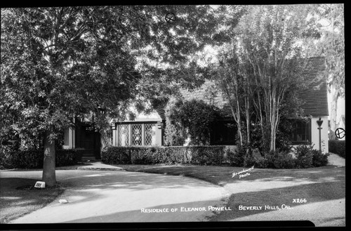 Residence of Eleanor Powell, Beverly Hills, Cal