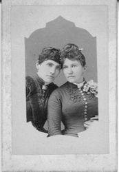 Two unidentified Victoria-era young women--circa 1880's