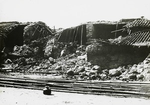 Collapsed building, India, 1934