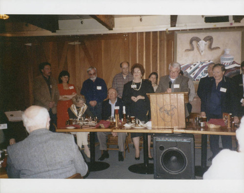 Sonoma County Press Club dinner at western themed restaurant, Santa Rosa, California, between 1995 and 2002
