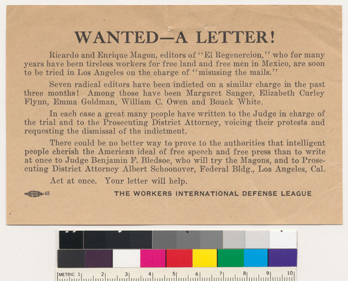 Wanted : a letter!