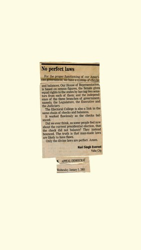 No Perfect Laws