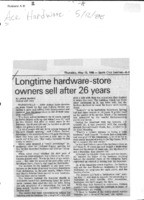 Longtime hardware-store owners sell after 26 years