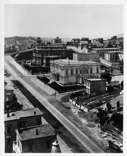 Nob Hill mansions, San Francisco, 1877