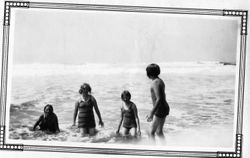 Children of Cora and Ludford Elvy at Bodega Bay, California, about 1930