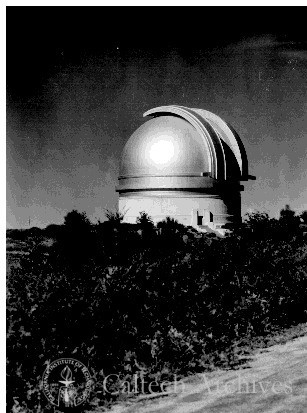 "200"" telescope dome--looking south"