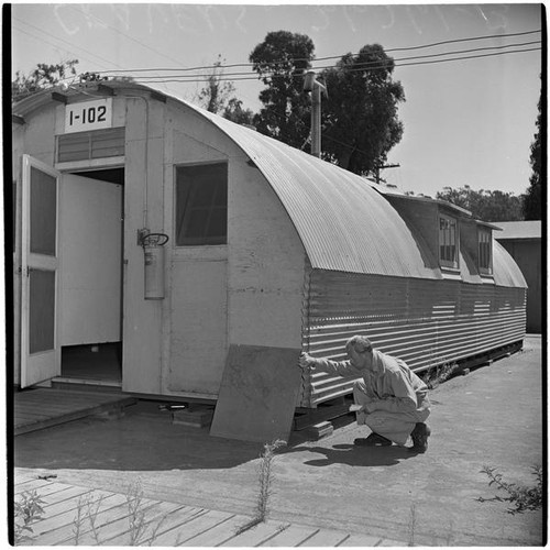Military Surplus Quonset Huts For Sale >> Calisphere Veteran At Port Hueneme For A Quonset Hut And
