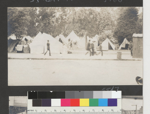 [Refugee camp. Hamilton Square?]