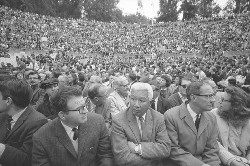 Crowd at the Greek Theater for the Special Convocation