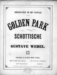 Golden park : schottische / by Gustave Wedel
