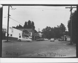 Looking east from Ross Road and Main Street, Graton, 1960