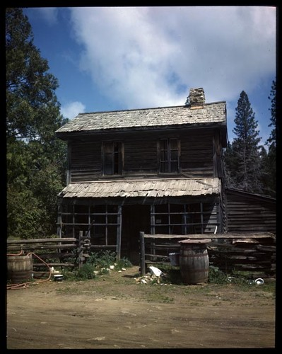 Very Old Two Story Frame House In Big Oak Flat