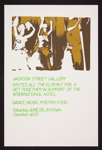 Jackson Street Gallery, support of the International Hotel