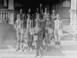 1924 Analy Union High School basketball B Team picture taken for the yearbook