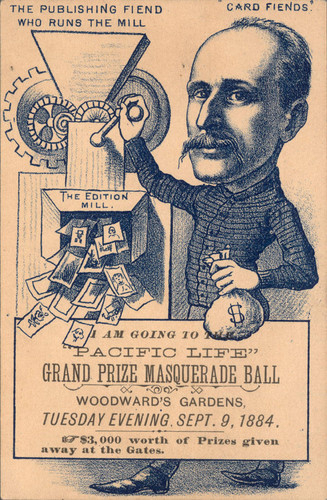 [Advertising card for Pacific life, Grand Prize masquerade ball]