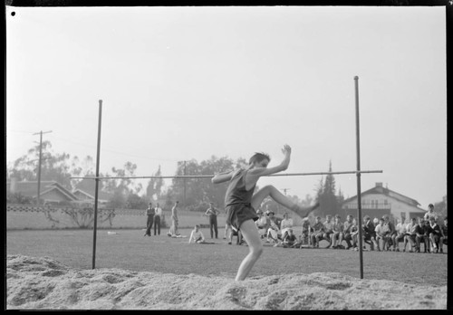 Track meet, Polytechnic Elementary School, 1030 East California, Pasadena. May 7, 1939