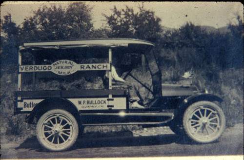 Verdugo Ranch milk delivery truck, 1916