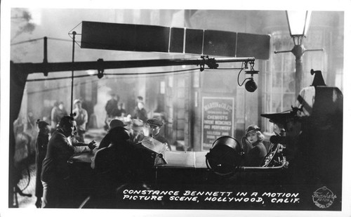 Constance Bennett in a Motion Picture Scene, Hollywood, Calif