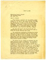 Letter from Julia Morgan to William Randolph Hearst, April 8, 1921