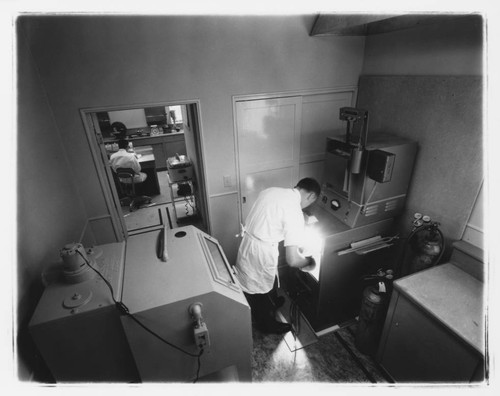 Interior view of Markovich Dental Laboratory, Santa Rosa, California, 1962