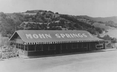Mohn Springs Cafe, in early 1920s