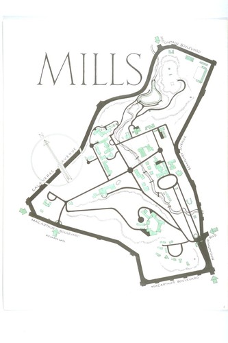 Map of Mills College