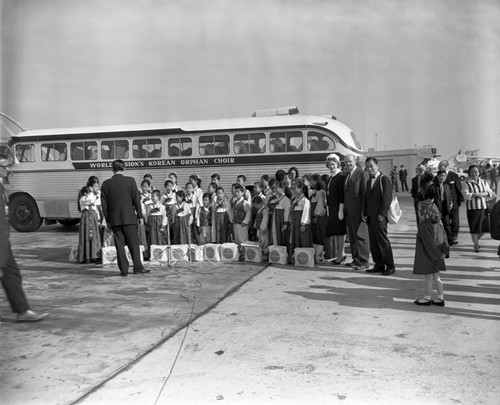 Korean war orphans in Los Angeles, 1963