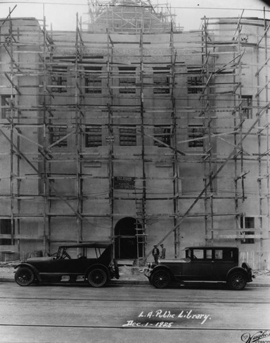 LAPL Central Library construction, view 70