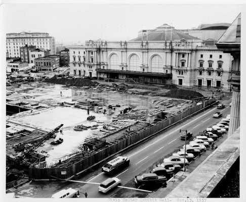 [Civic Center Exhibit Hall construction--Nov. 13, 1957]