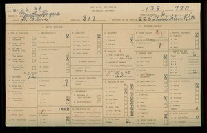 WPA household census for 317 S OLIVE, Los Angeles