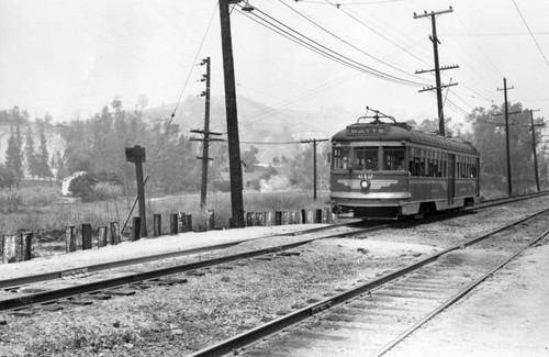 Watts line Pacific Electric car