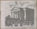 Capitol, at Sacramento during the inauguration of Gov. John B. Welles, Jan. 8, 1858