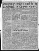 December, 1955, Flood To Be Landmark In County History