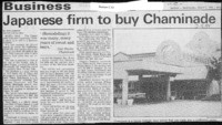 Japanese firm to buy Chaminade