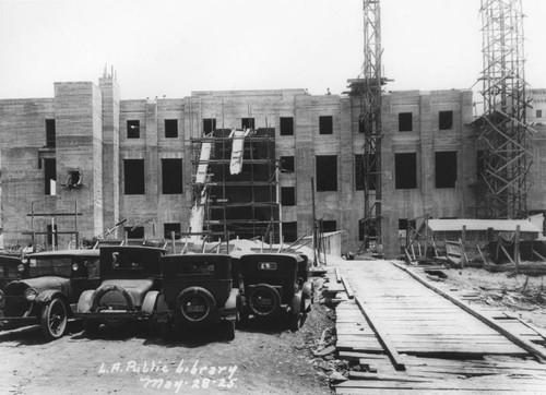 LAPL Central Library construction, view 49