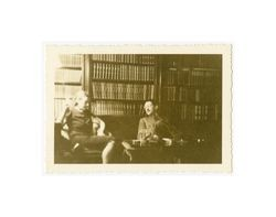 Rosario Margaret and Henry Isidore Dockweiler in the study, 1937