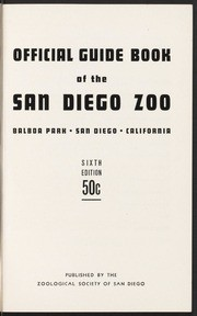 Official Guide Book of the San Diego Zoo 1953~ (Sixth Edition)